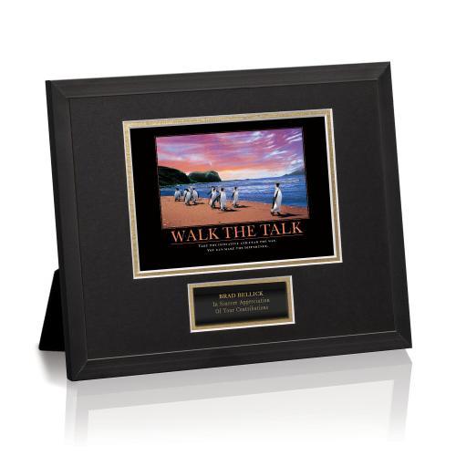 Walk The Talk Penguins Framed Award