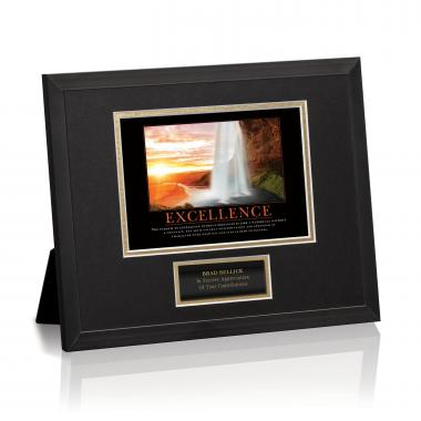 Excellence Waterfall Framed Award