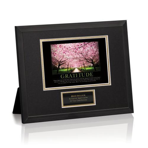 Gratitude Cherry Blossoms Framed Award