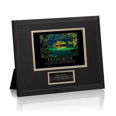 Integrity Island Framed Award