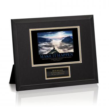 Make It Happen Mountain Framed Award