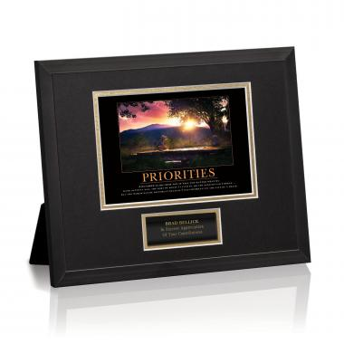 Priorities Bridge Framed Award