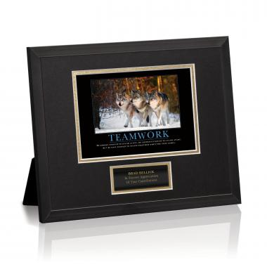 Teamwork Wolves Framed Award