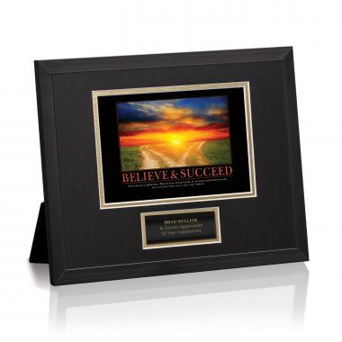 Believe & Succeed Path Framed Award