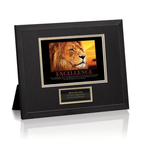Excellence Lion Framed Award