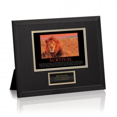 Survival Lion Framed Award