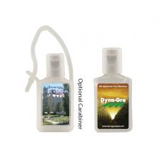 Health & Safety - 1/2 oz. Flat Antibacterial Hand Sanitizer Bottle - Carabiner