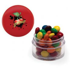 Office Supplies - Twist Top Container Red Cap filled with Chocolate Littles