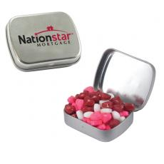 Home & Family - Small Silver Mint Tin with Candy Hearts