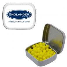 Candy, Food & Gifts - Small White Mint Tin with Colored Candy