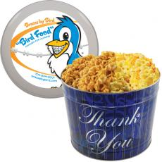 Office Supplies - Designer 2 Gal. Popcorn Tin-Two Flavor, Thank You