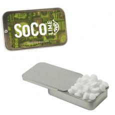 Candy, Food & Gifts - Silver Slider Tin with Sugar-Free Mints