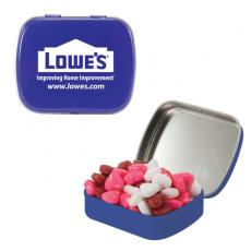 Home & Family - Small Blue Mint Tin with Candy Hearts