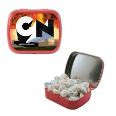 Office Supplies - Small Red Mint Tin with Sugar-Free Gum - Chewing Gum