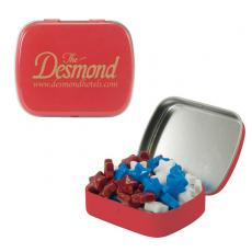 Home & Family - Small Red Mint Tin with Candy Stars