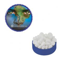 Office Supplies - Small BlueSnap-Top Mint Tin with Sugar-Free Mints