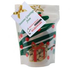 Health & Safety - Large Window Bag with Pistachio Nuts- Holiday Tree
