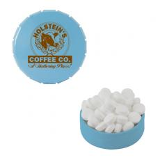 Health & Safety - Small Light Blue Snap-Top Mint Tin with Sugar-Free Mints