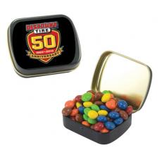 Home & Family - Small Black Mint Tin with Chocolate Littles