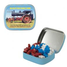 Home & Family - Small Light Blue Mint Tin with Candy Stars