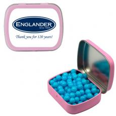 Home & Family - Small Pink Mint Tin with Colored Candy