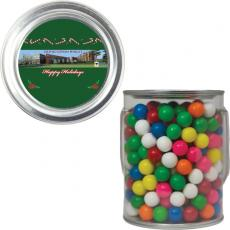 Pens, Pencils & Markers - Clear Plastic Paint Can Pail with Gumballs or Gum Balls