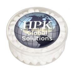 Tradeshow & Event Supplies - Round Show Piece with Sugar-Free Mints - Acrylic