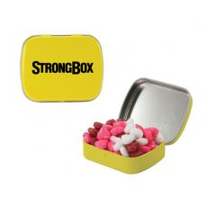 Home & Family - Small Yellow Mint Tin with Candy Hearts
