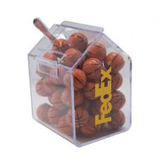 Candy, Food & Gifts - Candy Bin with Chocolate Sports Balls  - Candy Dispenser