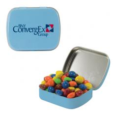 Home & Family - Small Light Blue Mint Tin with Chocolate Littles