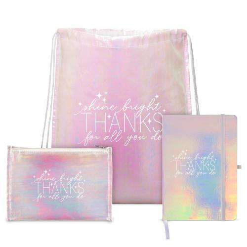 Shine Bright Drawstring Backpack Gift Set