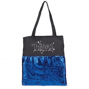 Thanks Reversible Sequin Tote Bag