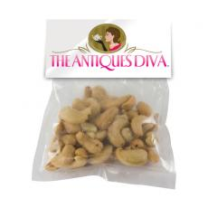 Candy, Food & Gifts - Large Candy Bag (with Header Card) with Cashews