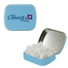 Home & Family - Small Light Blue Mint Tin with Sugar-Free Mints