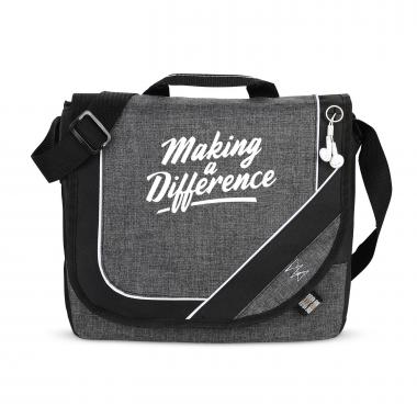Making A Difference Heathered Messenger Bag