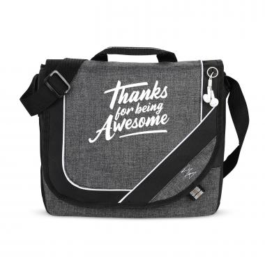 Thanks for Being Awesome Heathered Messenger Bag