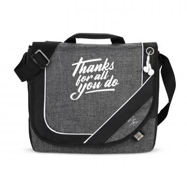 Thanks For All You Do Heathered Messenger Bag