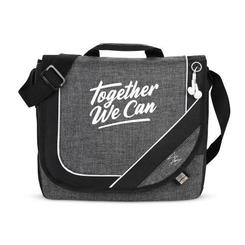 Together We Can Heathered Messenger Bag