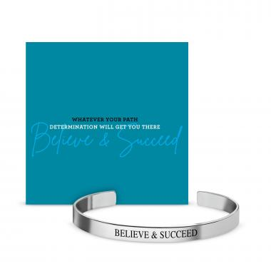 Believe & Succeed Affirmation Band