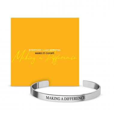Making a Difference Affirmation Band