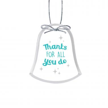 Thanks for All You Do Bell Crystal Ornament