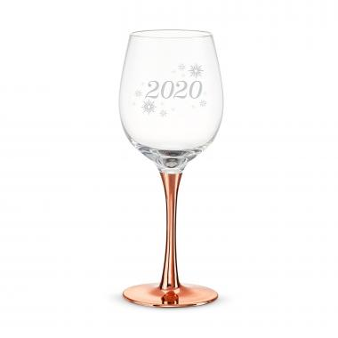 14oz Rose Gold Wine Glass