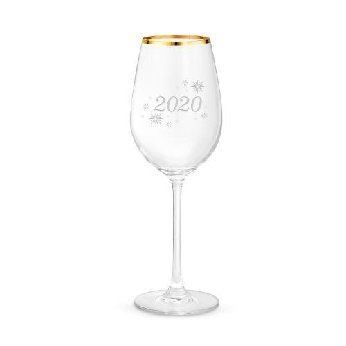 17oz Gold Rimmed Wine Glass