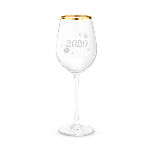 15oz Gold Rimmed Wine Glass