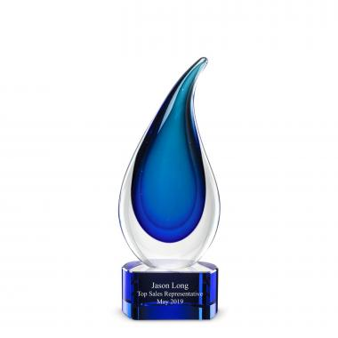 Delray Flame Art Glass Award