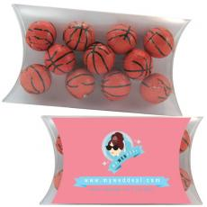 Candy, Food & Gifts - Medium Pillow Pack with Chocolate Sports Balls Basketballs