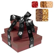 Candy, Food & Gifts - Fifth Avenue Gift Box Tower - Cookies, Popcorn, Nuts, Candy