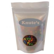 Candy, Food & Gifts - Large Window Bag with Chocolate Little Candy - White