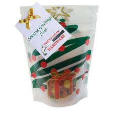 Candy, Food & Gifts - Large Window Bag with Jelly Beans Candy - Holiday Tree