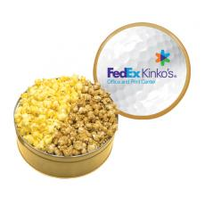 Candy, Food & Gifts - The King Size Popcorn Tin with Butter & Caramel Popcor- Gold